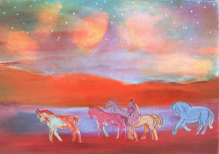 Horses in Wilderness by Vivienne Flesher